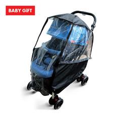 พลาสติกคลุมกันฝนสำหรับรถเข็นเด็ก Prince&Princess Stroller Rain Cover (Black)