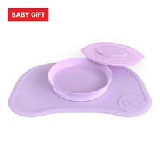 Twistshake Click Mat And Plate ชุดจานมีฝาปิดพร้อมแผ่นรองซิลิโคน - Purple