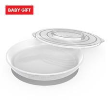 Twistshake Plate จานพร้อมฝาปิด - White