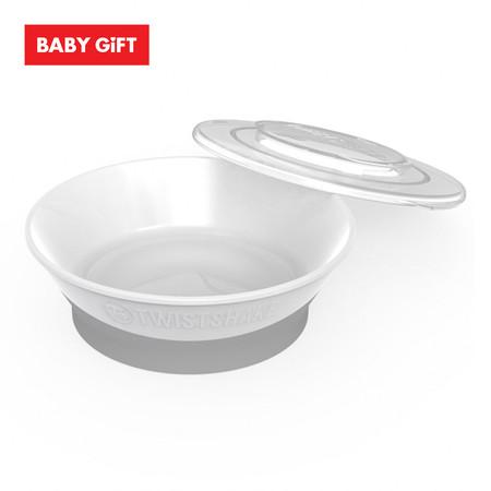 Twistshake Bowl ชามพร้อมฝาปิด - White
