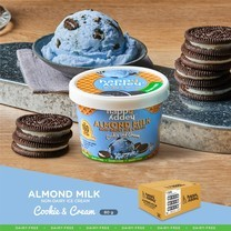 คุกกี้ แอนด์ ครีม ( COOKIE AND CREAM ) ไอศกรีมจากนมอัลมอนด์ ตราแฮปปี้แอดดี้ (Happy Addey) ขนาด 80 g