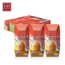 137ดีกรี Almond Milk with Malt (นมอัลมอนด์ สูตรมอลต์) ขนาด180 มล. 1 ลัง มี 36 กล่อง