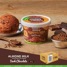 ไอศกรีมจากนมอัลมอนด์ ตราแฮปปี้แอดดี้ (Happy Addey) ขนาด 80 g  รสดาร์กช็อกโกแลต ไอศกรีม ( DARK CHOCOLATE ICE CREAM )