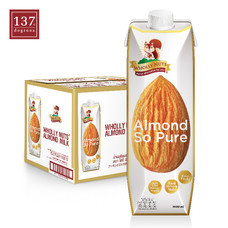Almond Milk นมอัลมอนด์ ตราโฮลี่นัทส์ (Wholly Nuts) ขนาด 1000 มล.1 ลัง มี 12 กล่อง