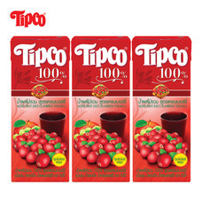 น้ำแครนเบอร์รี่ผสมน้ำผลไม้รวม 100% ขนาด 200 มล. แพ็ก 3