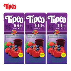 น้ำเชอร์รี่เบอร์รี่ผสมน้ำองุ่น 100% ขนาด 200 มล. แพ็ก 3