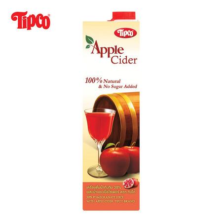 น้ำทับทิม 30% ผสมน้ำแอปเปิ้ลไซเดอร์ ขนาด 1000 มล.