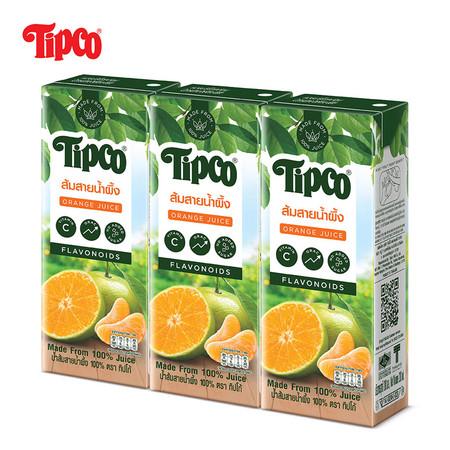 น้ำส้มสายน้ำผึ้ง 100% ขนาด 200 มล. แพ็ก 3