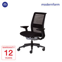 Modernform เก้าอี้ Steelcase ergonomic รุ่น Think v2 (PP) พนักพิงกลาง สีดำ ปรันเอนได้ 4 ระดับ เก้าอี้เพื่อสุขภาพ