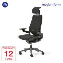 Modernform เก้าอี้ Steelcase ergonomic รุ่น Gesture พนักพิงสูง แบบWrap โครงเทา หุ้มผ้าดำ เก้าอี้เพื่อสุขภาพ
