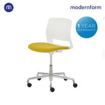 Modernform เก้าอี้สัมมนา รุ่น ESN-006C เก้าอี้บาร์เตี้ย-ปรับสูงได้ สีสันสดใส ขาอลูมิเนียม ล้อไนลอน