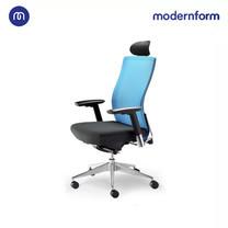 Modernform เก้าอี้สำนักงาน รุ่น Series15 พนักพิงสูง พนักพิงหุ้มด้วยตาข่าย เบาะผ้าสีดำ
