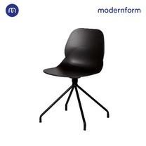 Modernform เก้าอี้เอนกประสงค์ รุ่น CT617B บอดี้พลาสติก ขาเหล็ก สีดำ