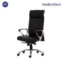 Modernform เก้าอี้ผู้บริหาร รุ่น Stanley โครงเหล็กชุบโครเมียม หุ้มหนังเเท้ ระบบโยกเอนแบบซิงโครไนซ์