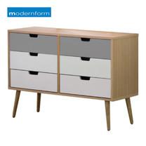 Modernform โต๊ะเครื่องแป้ง รุ่น DR-Lavina แบบ 6 ลิ้นชัก - สีไม้ธรรมชาติ