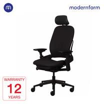 Modernform เก้าอี้ Steelcase ergonomic รุ่น Leap (PP) พนักพิงสูง เบาะเเละพนักผ้าสีดำ เก้าอี้เพื่อสุขภาพ