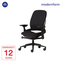 Modernform เก้าอี้ Steelcase ergonomic รุ่น Leap (PP) พนักพิงกลาง เบาะเเละพนักผ้าสีดำ เก้าอี้เพื่อสุขภาพ