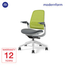 Modernform เก้าอี้ Steelcase ergonomic รุ่น Series1 พนักพิงกลาง สีเขียว หุ้มด้วยผ้าตาข่ายไมโครนิต เก้าอี้เพื่อสุขภาพ