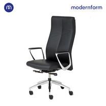 Modernform เก้าอี้ผู้บริหาร ระดับพรีเมี่ยม รุ่น Series12 หุ้มหนังแท้ สีดำ