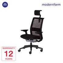 Modernform เก้าอี้ Steelcase ergonomic รุ่น Think v2 (PP) พนักพิงสูง สีดำ ปรันเอนได้ 4 ระดับ เก้าอี้เพื่อสุขภาพ