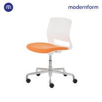Modernform เก้าอี้เอนกประสงค์ รุ่น ESN-006C สีส้ม เก้าอี้บาร์เตี้ย-ปรับสูงได้ ขาอลูมิเนียม ล้อไนลอน