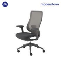 Modernform เก้าอี้สำนักงาน รุ่น Series16 Commercial พนักพิงตาข่ายเทา เท้าแขนปรับได้ 3D เบาะหุ้มผ้าสีดำ