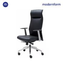 Modernform เก้าอี้ผู้บริหาร รุ่น Ivention พนักพิงสูง โครงเหล็กชุบโครเมียม หุ้มหนังเเท้สุดหรู