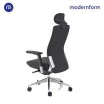 Modernform เก้าอี้สำนักงาน รุ่น Series15S เบาะผ้าดำ พนักผ้าสีดำ ขาอลูมิเนียม