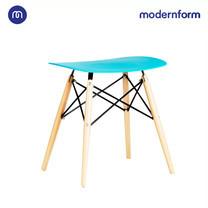 Modernform เก้าอี้อเนกประสงค์ เก้าอี้สัมมนา พลาสติกขาไม้สีน้ำเงิน รุ่น PW027