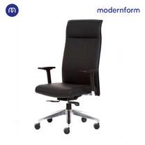 Modernform เก้าอี้ผู้บริหาร รุ่น CASTER โครงเหล็กชุบโครเมี่ยมหุ้มหนังเเท้ เบาะหุ้มหนังแท้