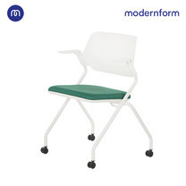 Modernform เก้าอี้เอนกประสงค์ รุ่น SAYA พนักพิงกลาง สีเขียว เคลื่อนย้ายสะดวกด้วยล้อไนลอน พับเก็บได้