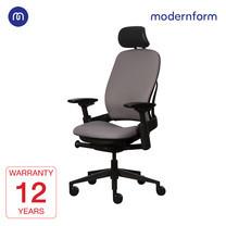 Modernform เก้าอี้ Steelcase ergonomic รุ่น Leap (PP) พนักพิงสูง เบาะเเละพนักผ้าสีเทา เก้าอี้เพื่อสุขภาพ