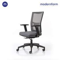 Modernform เก้าอี้สำนักงาน รุ่น HYDRA พนักพิงกลาง หุ้มผ้าตาข่ายทึบ สีเทา