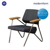 Modernform เก้าอี้เอนกประสงค์ รุ่น BD-R1078 มีที่พักหลัง แขนไม้จริง ขาเหล็กสีทองแดง