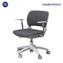 Modernform เก้าอี้เอนกประสงค์ รุ่น B-One (S01) พนักกลาง พลาสติก เฟรมขาว ขาไนลอน เบาะผ้าสีเทา