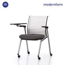 Modernform เก้าอี้ LECTURE เก้าอี้มหาลัย โรงเรียน สีดำ + แผ่นรองเขียนสีเทา รุ่น Tec (01)
