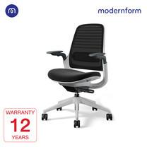 Modernform เก้าอี้ Steelcase ergonomic รุ่น Series1 พนักพิงกลาง สีดำ เบาะสีดำ เก้าอี้เพื่อสุขภาพ