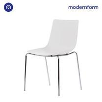 Modernform เก้าอี้เอนกประสงค์ เก้าอี้สัมมนา เก้าอี้ประชุม รุ่น CT390 ขาเหล็ก สีขาว