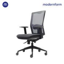 Modernform เก้าอี้สำนักงาน รุ่น Series X พนักพิงกลาง ทำจากไนลอนหุ้มตาข่าย ปรับที่เท้าเเขนได้