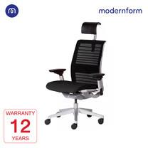 Modernform เก้าอี้ Steelcase ergonomic รุ่น Think v2 Platinum พนักพิงสูง สีดำ ปรันเอนได้  4 ระดับ เก้าอี้เพื่อสุขภาพ