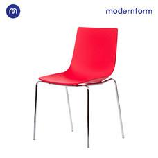 Modernform เก้าอี้อเนกประสงค์ เก้าอี้สัมมนา เก้าอี้ประชุม รุ่น CT390 ขาเหล็ก สีแดง
