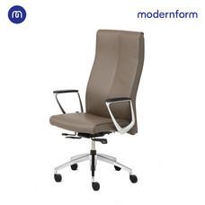 Modernform เก้าอี้ผู้บริหาร ระดับพรีเมี่ยม รุ่น Series12  หุ้มหนังแท้ สีน้ำตาลเข้ม