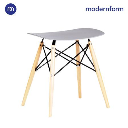 Modernform เก้าอี้อเนกประสงค์ เก้าอี้สัมมนา พลาสติกขาไม้ สีเทา รุ่น PW027