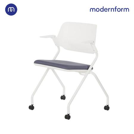 Modernform เก้าอี้เอนกประสงค์ รุ่น SAYA พนักพิงกลาง สีเทา เคลื่อนย้ายสะดวกด้วยล้อไนลอน