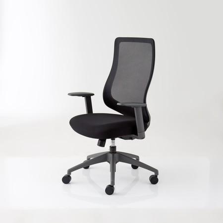 Modernform เก้าอี้สำนักงาน รุ่น Series16 Value เก้าอี้พนักกลาง เท้าแขนปรับได้ เบาะหุ้มผ้าสีดำ พนักพิงตาข่าย ไม่มี Lumba