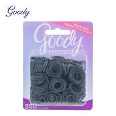 Goody ยางรัดผมวงเล็กสีดำ Womens Classics Rubberband Black 250 ชิ้น 12670