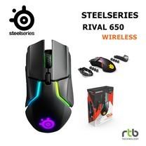 SteelSeries เมาส์เกมมิ่งไร้สาย RGB รุ่น Rival 650 Wireless - Black
