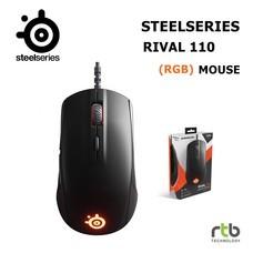 SteelSeries เมาส์เกมมิ่ง RGB รุ่น Rival 110 - Matte Black