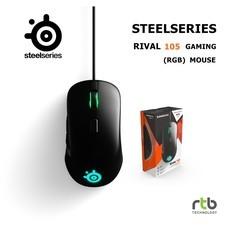 Steelseries เมาส์เกมมิ่ง รุ่น Rival 105 RGB Gaming Mouse- Black