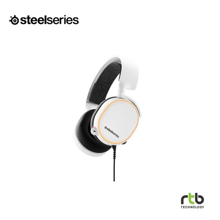 SteelSeries หูฟังเกมมิ่ง 7.1 DTS รุ่น Arctis 5 RGB (2019 Edition) Gaming Headset - White